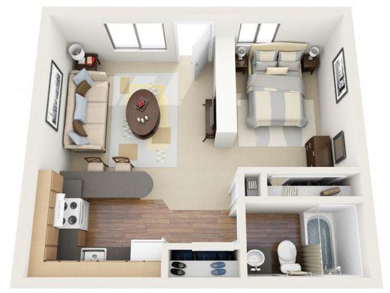 Small Studio (Photo from Pintest)