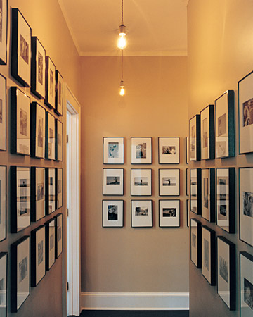 Hallway Feng shui with Picture Frame- Martha Stewart